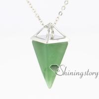 triangle chakra pendant semi precious jewellery handcrafted jewellery birth stone necklace semi precious gemstone jewelry semi precious stone