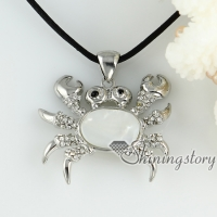 white pink oyster sea shell pendants rhinestone crab openwork necklaces mop jewellery