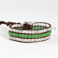 wrap leather crystal beaded and jade bracelets jewellery