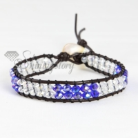 wrap leather crystal beaded bracelets jewellery