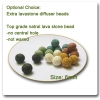6mm round lava stone bead essential oil diffuser 100 pc a lot