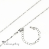 18 inch o chain necklace with 2.5 inch extension rhodium plated cooper nickle and lead free