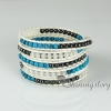 five layer beaded wrap bracelets semi precious stone jade agate turquoise rose quartz natural stone jewelry