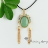 oval turquoise glass opal amethyst rose quartz tiger's-eye rhinestone jade necklaces with pendants