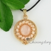 round glass opal amethyst rose quartz jade agate freshwater pearl semi precious stone openwork necklaces with pendants