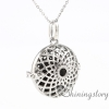 round openwork diffuser necklace diffuser pendant wholesale diffuser locket perfume lockets metal volcanic stone necklaces
