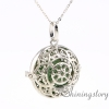 round openwork essential oil jewelry wholesale diffuser necklace essential oil diffuser jewelry aroma jewelry metal volcanic stone necklaces