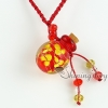 small wish bottle pendant necklace necklace vials for ashes wholesale distributor venetian lampwork glass jewelry with flower inside